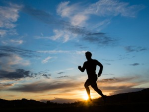 Male Runner at Sunset 460